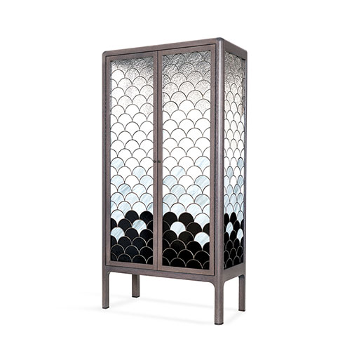 Triton Stained Glass Cabinet